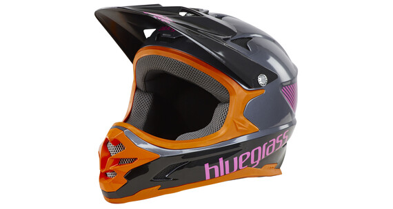 bluegrass Intox Fullface-Helmet grey/orange/purple